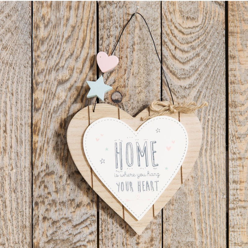Love Life Heart Plaque - Home is Where