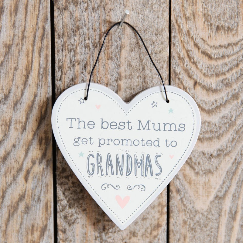Love Life Heart Plaque - Promoted to Grandma