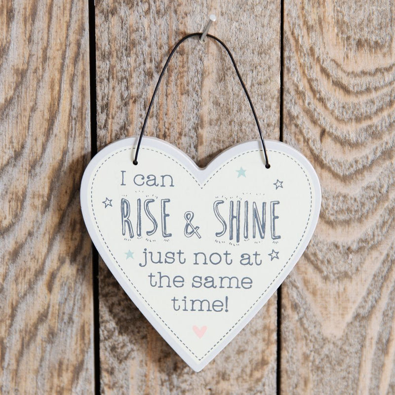 Love Life Heart Plaque - I Can Rise & Shine