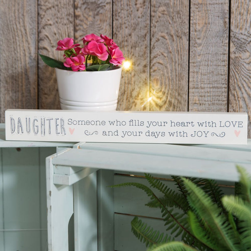 Love Life Thin Mantel Plaque - Daughter