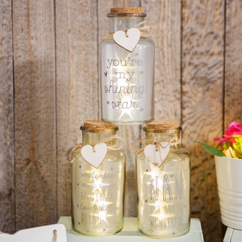 Love Life Light Up Jars - Smile Often