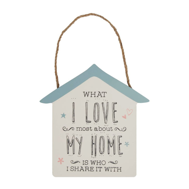 'Love Life' Hanging Plaque - Welcome to My Crazy Kitchen