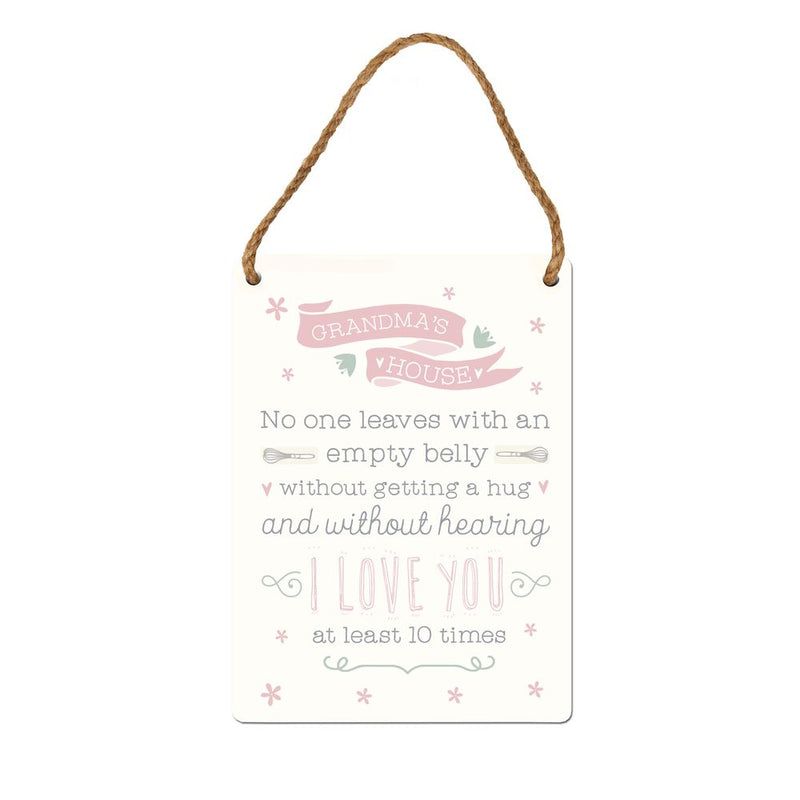 'Love Life' Tin Hanging Plaque - Grandma's House