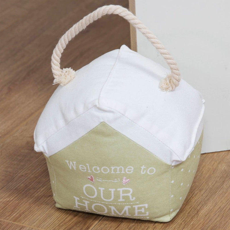Love Life Doorstop with Rope Handle - Welcome To Our Home