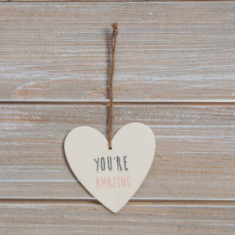 Greeting Card with Heart Plaque - You're Amazing