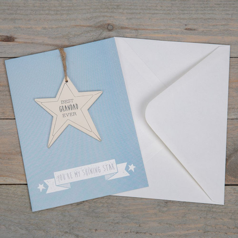 Greeting Card & Star Plaque - Best Grandad Ever