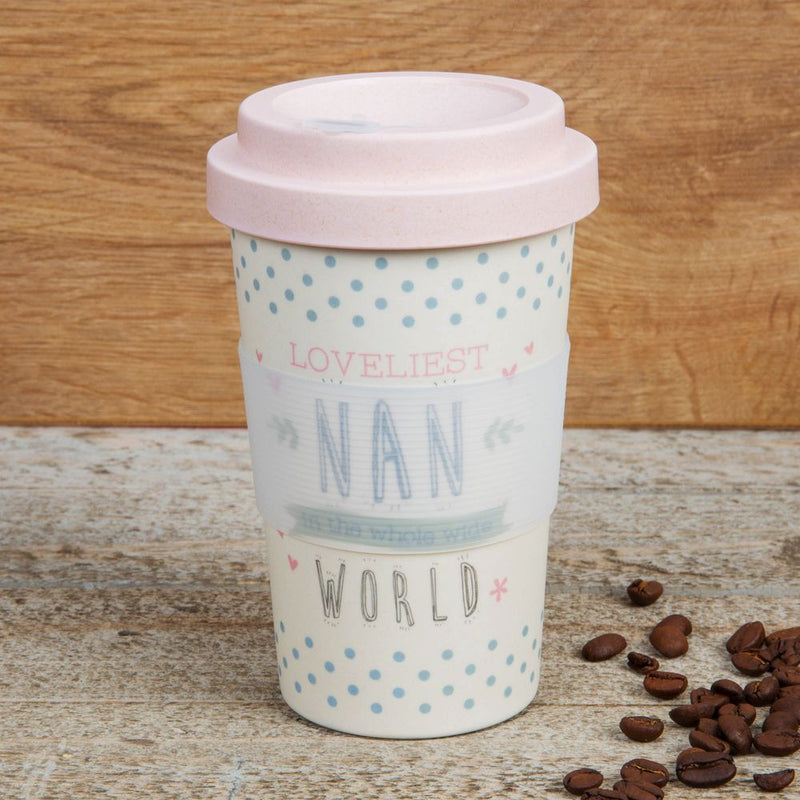 Love Life Bamboo Travel Mug 400ml - Loveliest Nan
