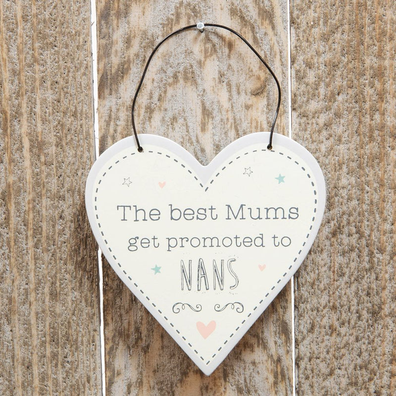 Love Life Mini Heart Plaque - Promoted to Nan