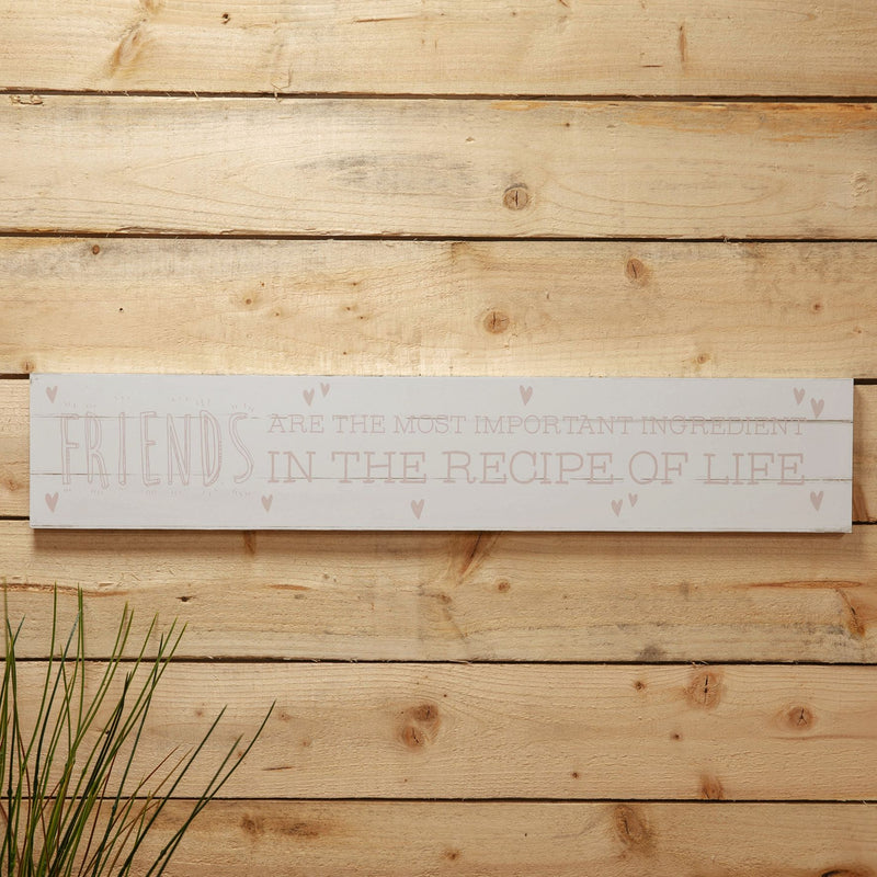 Love Life Giant Plaque - Friends Are The Most Important