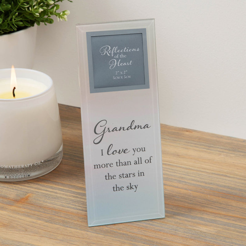 "2"" x 2"" - Reflections Of The Heart Photo Frame - Grandma"