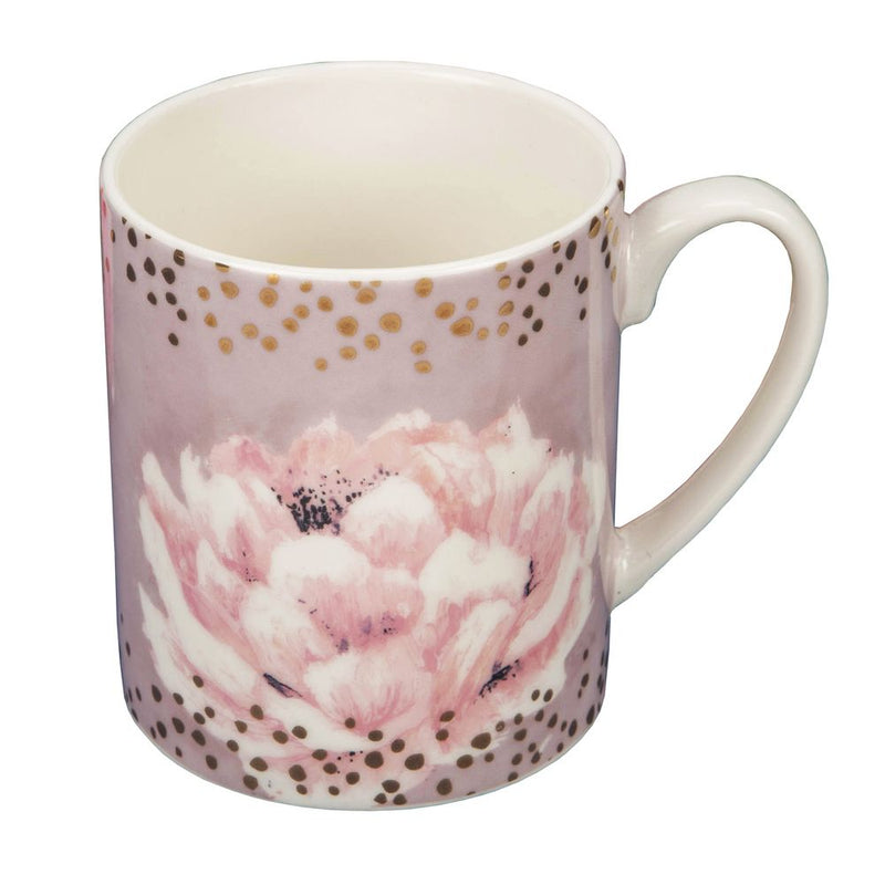 Swan Lake Pink Floral New Bone China Mug