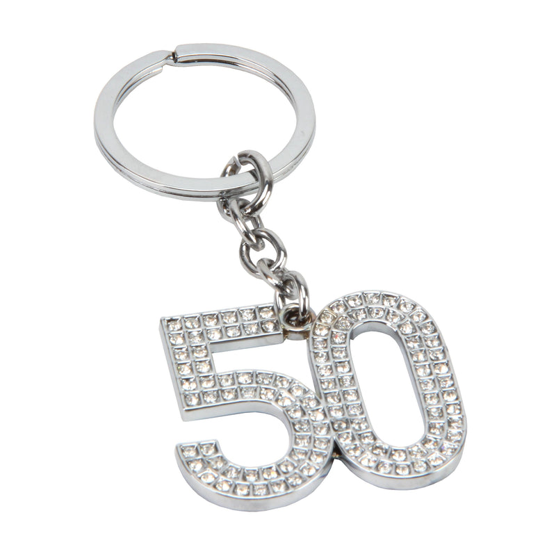 Birthdays by Juliana '50' Crystal Keyring
