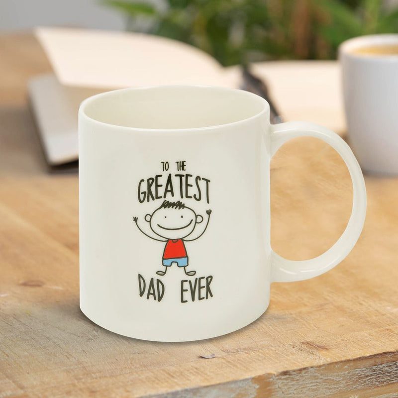 To The Greatest Dad Ever Stoneware Mug