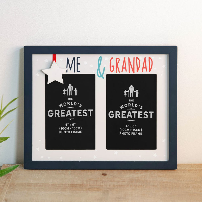 "4"" x 6"" - Me & Grandad Double Aperture Photo Frame"