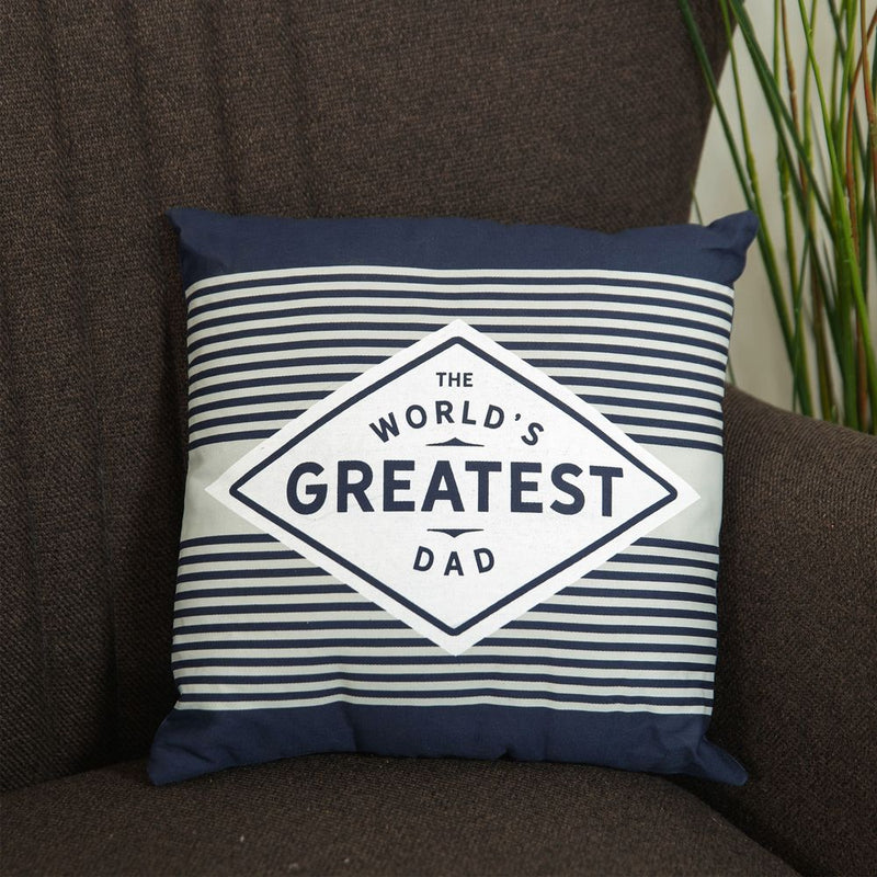 The World's Greatest Dad Square Scatter Cushion - 30cm
