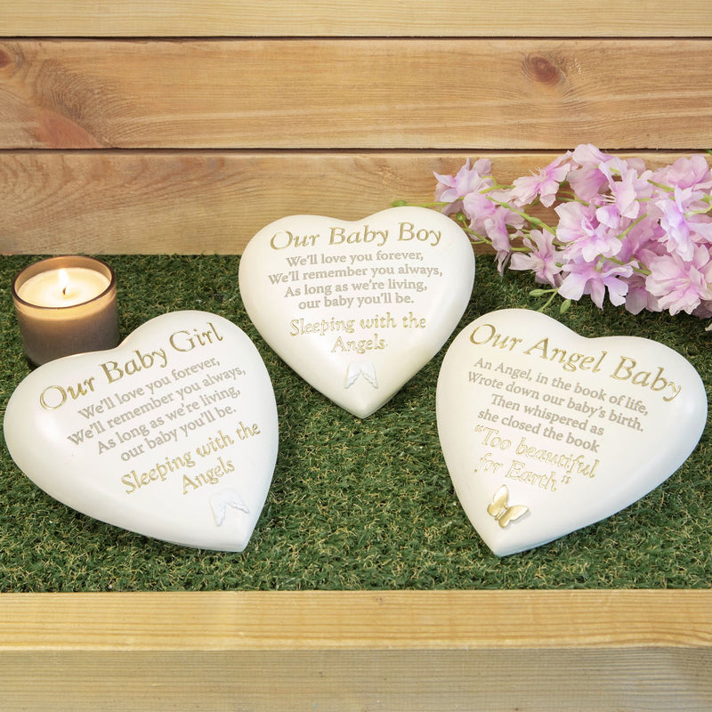 Thought Of You Graveside Heart Memorial - Our Angel Baby