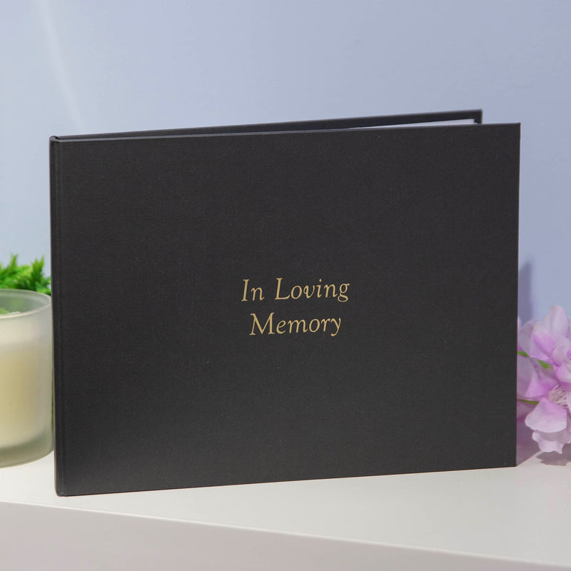 Thoughts of You Book of Condolence - Black - Memories