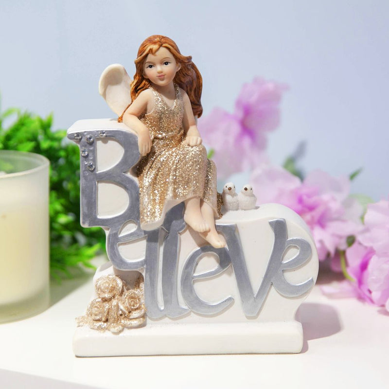 Thoughts Of You Angel Figurine - Believe