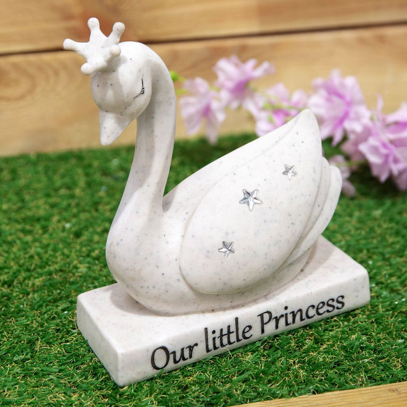 Thoughts Of You Graveside Stone - Swan Our Little Princess