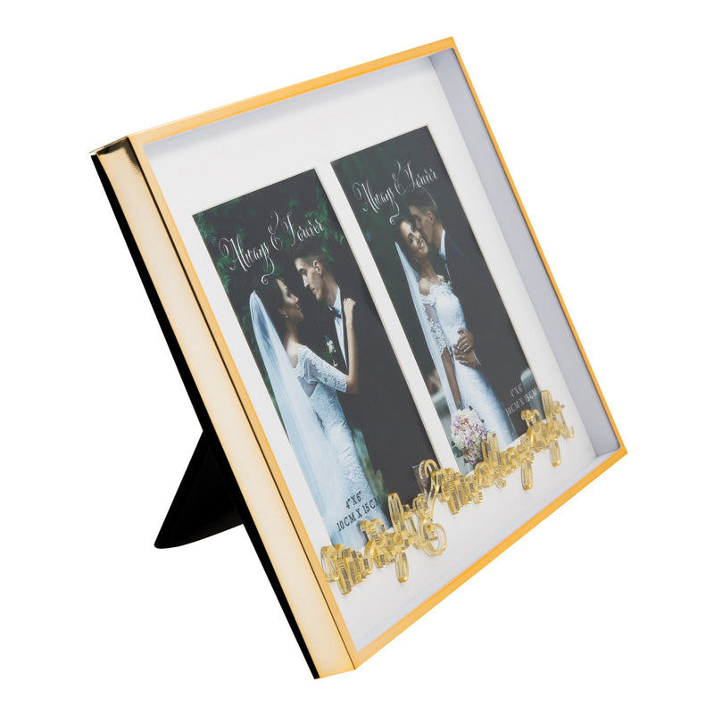 "4"" x 6"" - Always & Forever Double Frame - Mr Right"