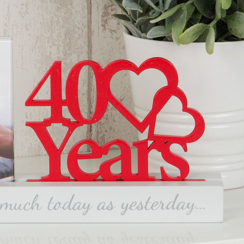 "4"" x 4"" - Celebrations Cut Out Photo Frame - 40 Years"