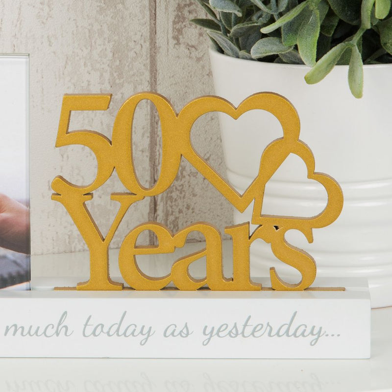 "4"" x 4"" - Celebrations Cut Out Photo Frame - 50 Years"
