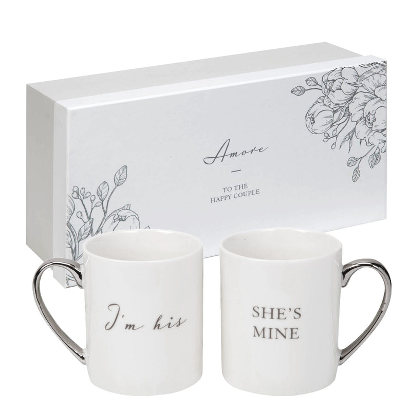 AMORE BY JULIANA® Mug Gift Set Pair - I'm His She's Mine