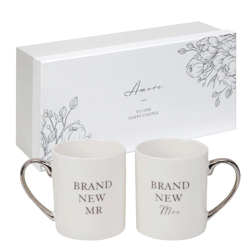 AMORE BY JULIANA® Mug Set Pair - Brand New Mr & Mrs