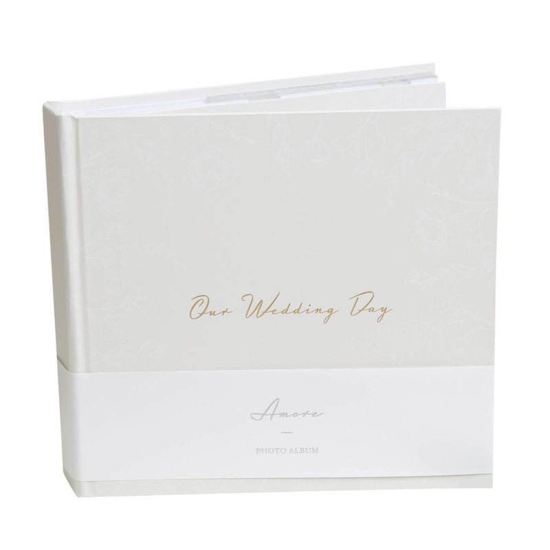 "AMORE BY JULIANA® Our Wedding Day Photo Album 4"" x 6"" 50 Pg"