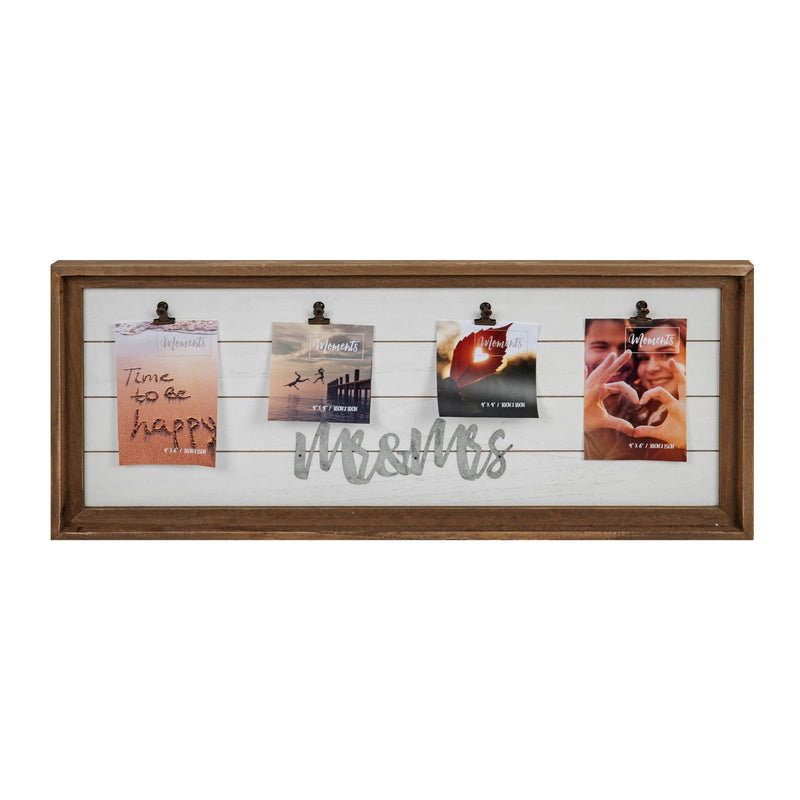 "4"" x 6"" - Mr & Mrs Multi Aperture Clip Frame"