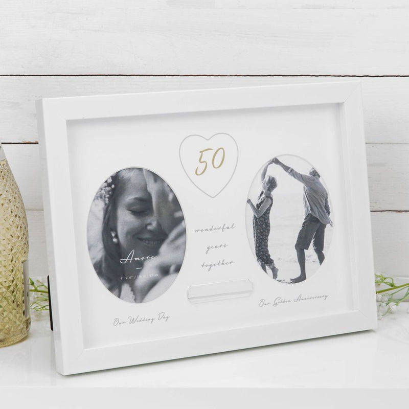AMORE BY JULIANA® 50th Anniversary Frame - Engraving Plate