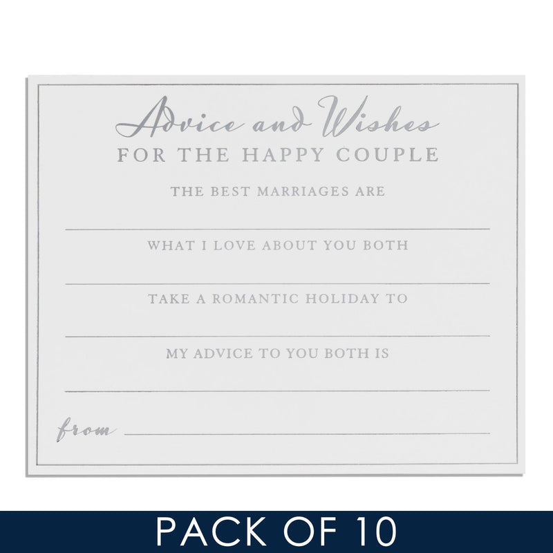 AMORE BY JULIANA® Wedding Advice Cards - Pack of 10