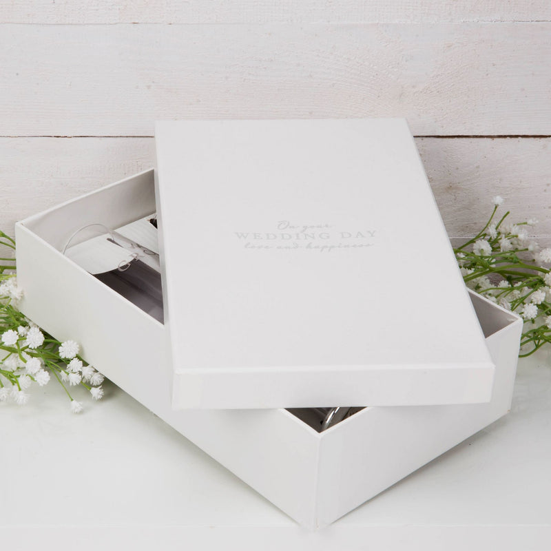 AMORE BY JULIANA® Straight Flute Set of 2 - Bride & Groom