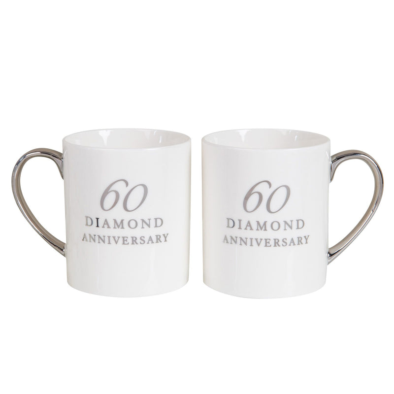AMORE BY JULIANA® Set of 2 Porcelain Mugs - 60th Anniversary
