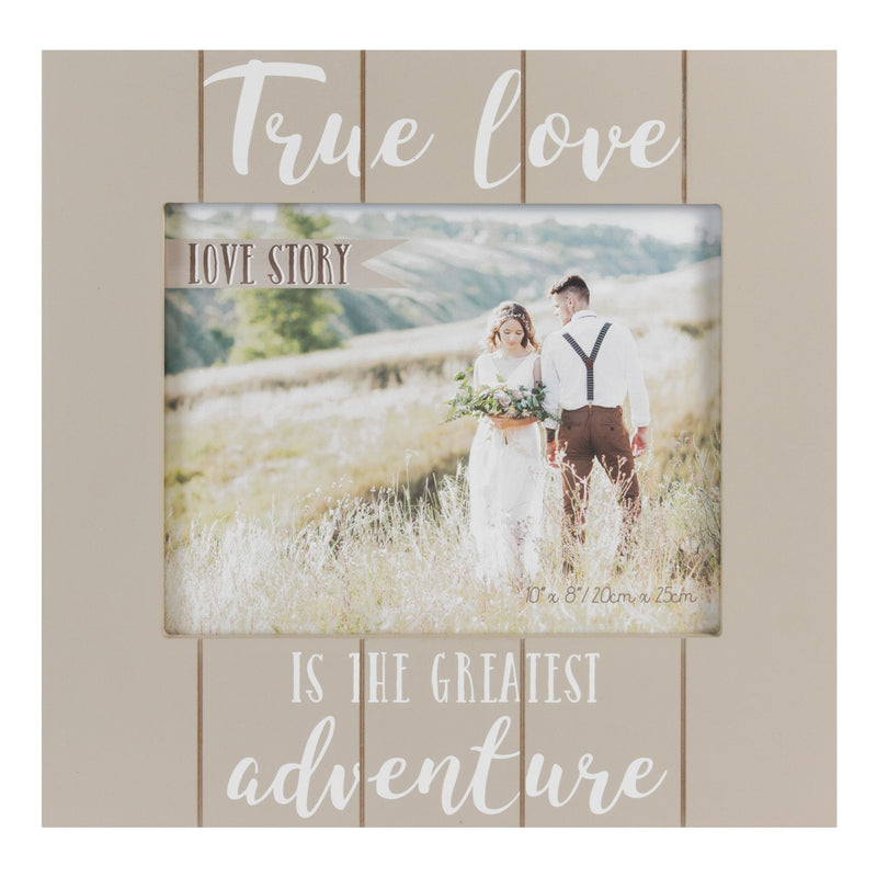 "8"" x 10"" - Love Story Photo Frame - True Love & Adventure"