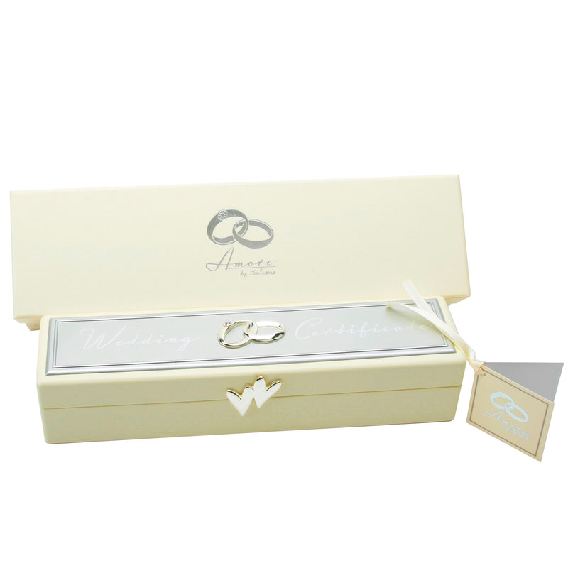 AMORE BY JULIANA® Wedding Certificate Box