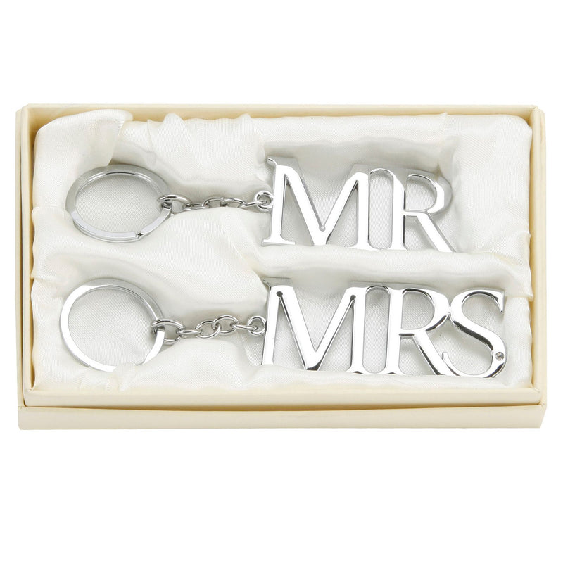 AMORE BY JULIANA® Silver Plated Keyring Set - Mr & Mrs