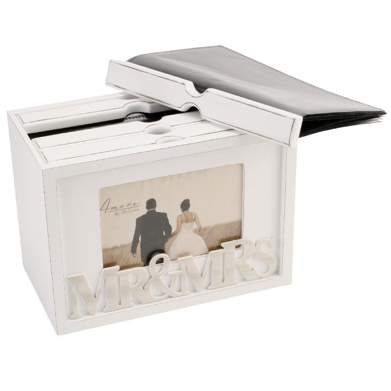 "7"" x 5"" - AMORE BY JULIANA® Mr & Mrs Photo Box"
