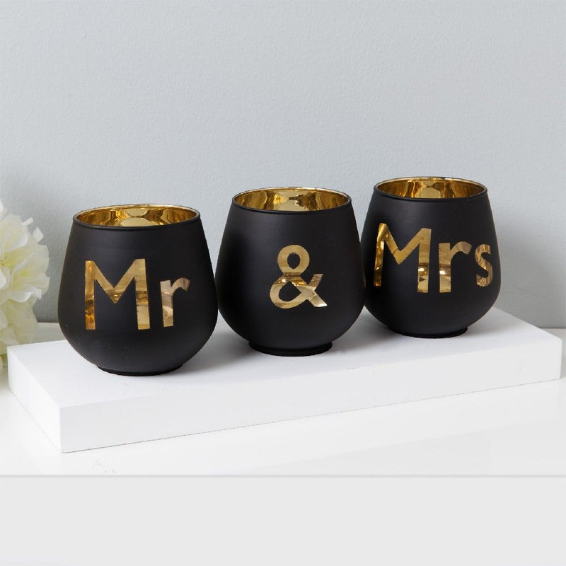 Always & Forever 'Mr & Mrs' Tealight Holders
