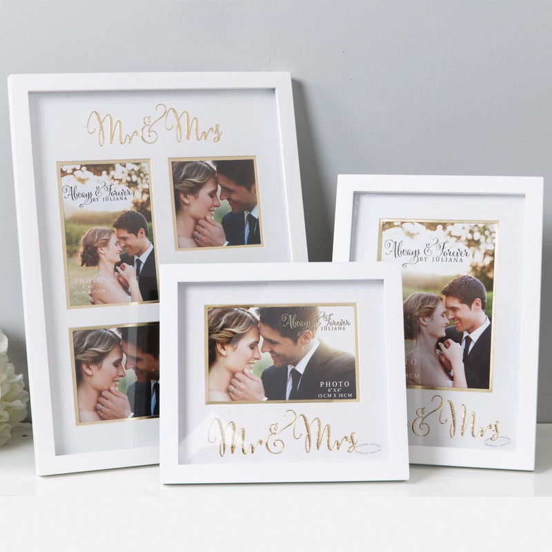 "6"" x 4"" - Always & Forever Photo Frame - Mr & Mrs"