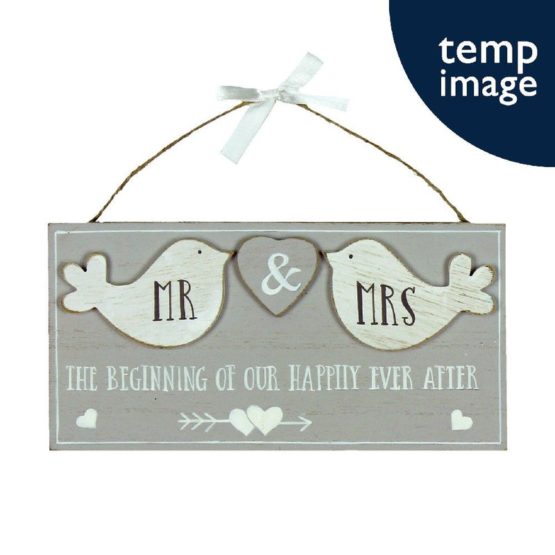 Love Story Mr & Mrs Plaque