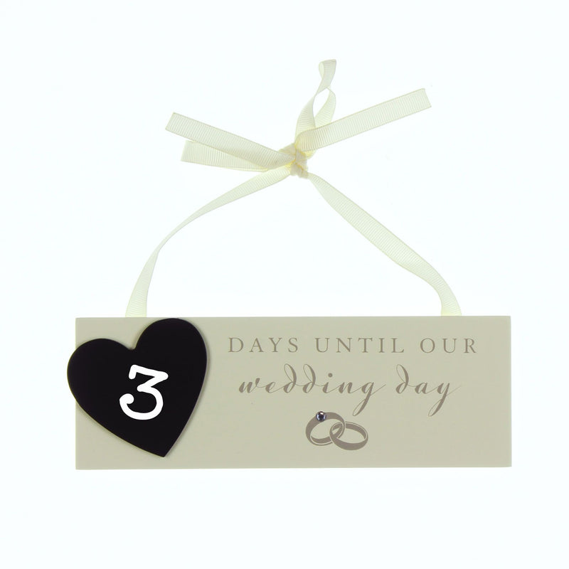 AMORE BY JULIANA® Countdown to Wedding Plaque with Chalk