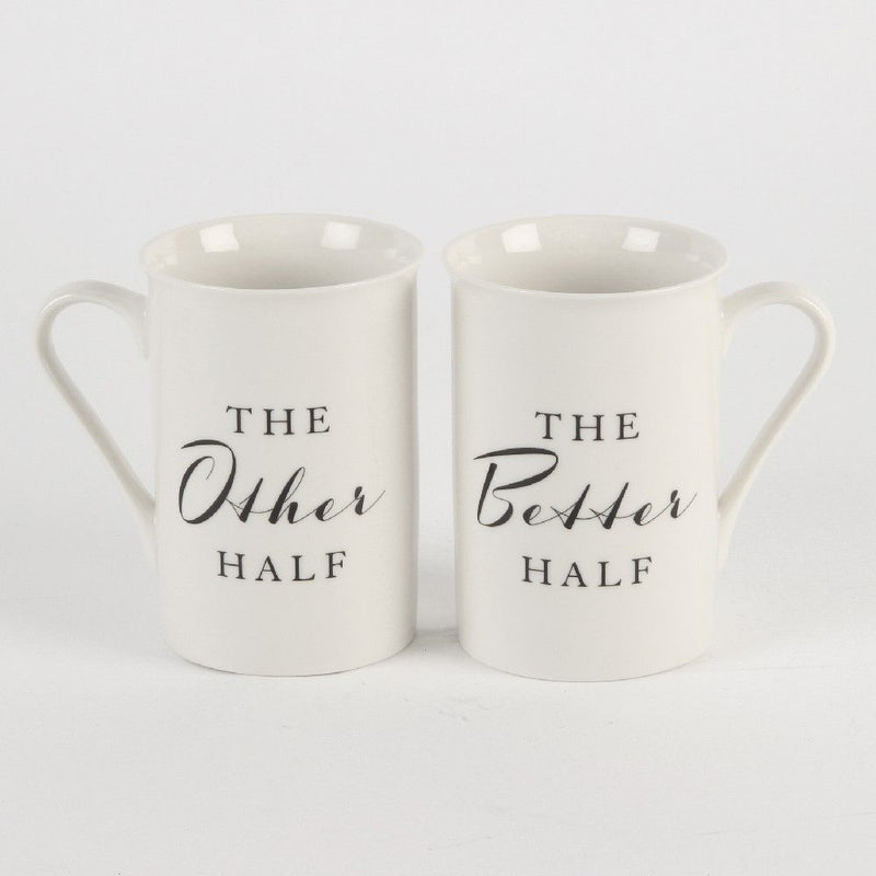 AMORE BY JULIANA® Mug Set - The Other Half & The Better Half