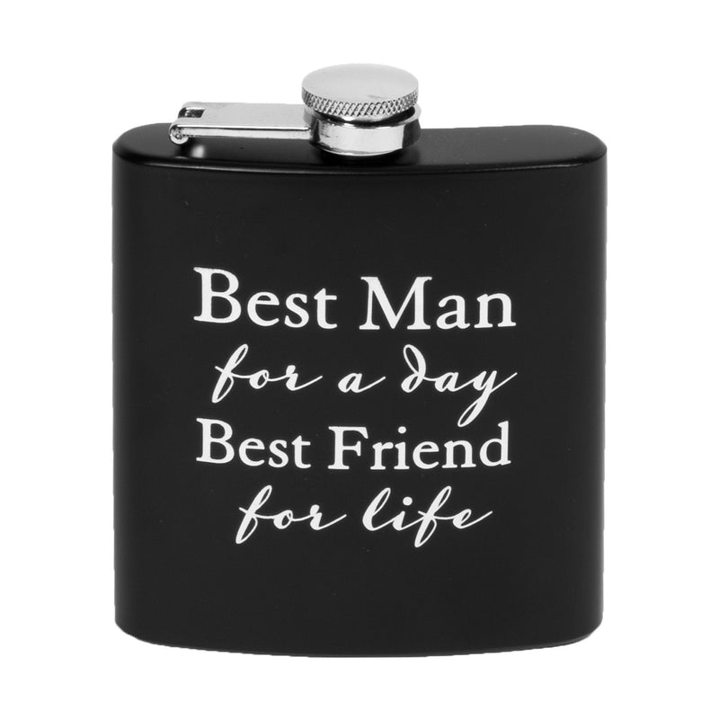 AMORE BY JULIANA® 6oz Hip Flask - Best Man For A Day...