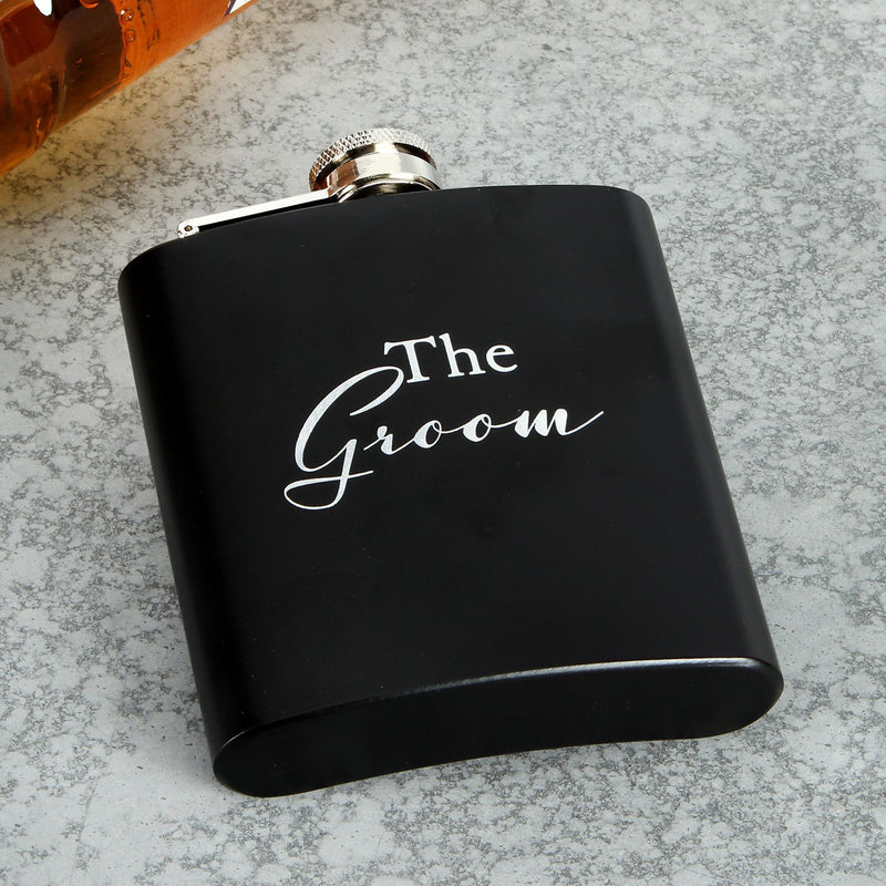 AMORE BY JULIANA® 6oz Hip Flask - The Groom