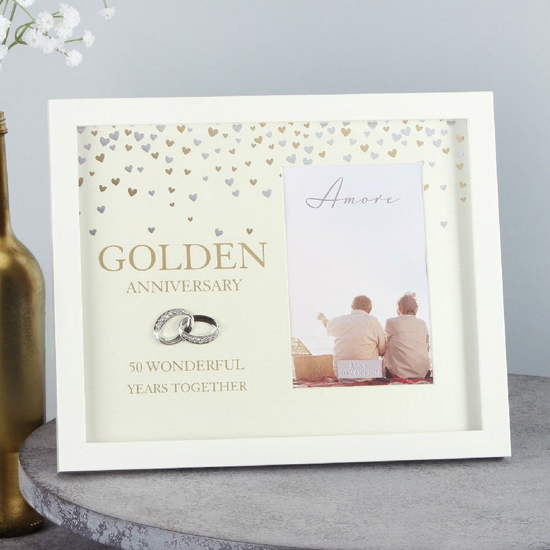 "4"" x 6"" - AMORE BY JULIANA® Frame - Golden Anniversary"
