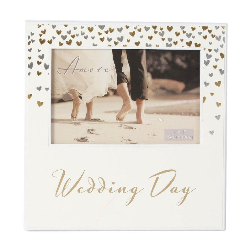 "6"" x 4"" - AMORE BY JULIANA® Photo Frame - Wedding Day"