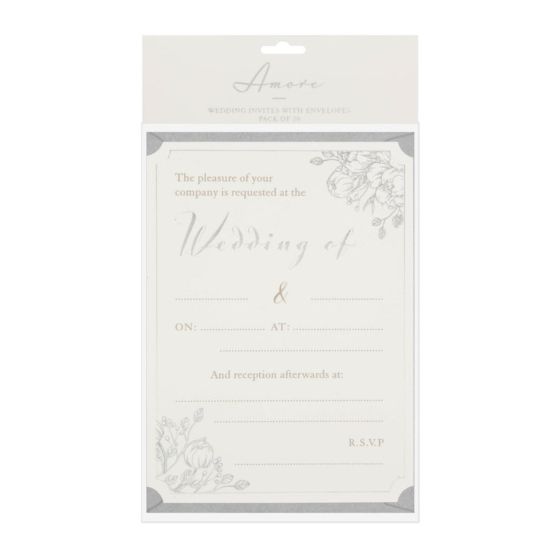 AMORE BY JULIANA® Wedding Day Invites - Pack of 20