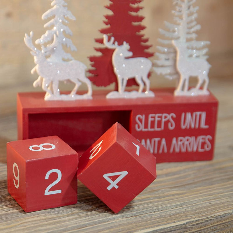 Wooden Christmas Christmas Count Down Blocks