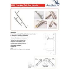 Load image into Gallery viewer, Chrome 1200mm Door Pull Handle Features and Maintenance